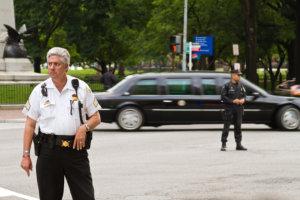 patroling police officers
