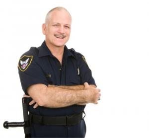 police man smiling